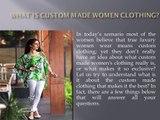 Custom Women Made Clothing| Personalised Womens Clothing