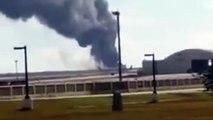بالفيديو..تحطم طائرة مقاتلة أمريكية بعد إقلاعها بثوان ونجاة طاقهما بالكامل