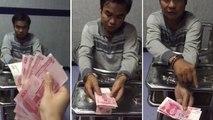 Un voleur de billet de banque bluffe un policier chinois