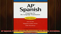 FREE PDF  AP Spanish Preparing for the Language Examination 3rd Edition Student Edition  FREE BOOOK ONLINE