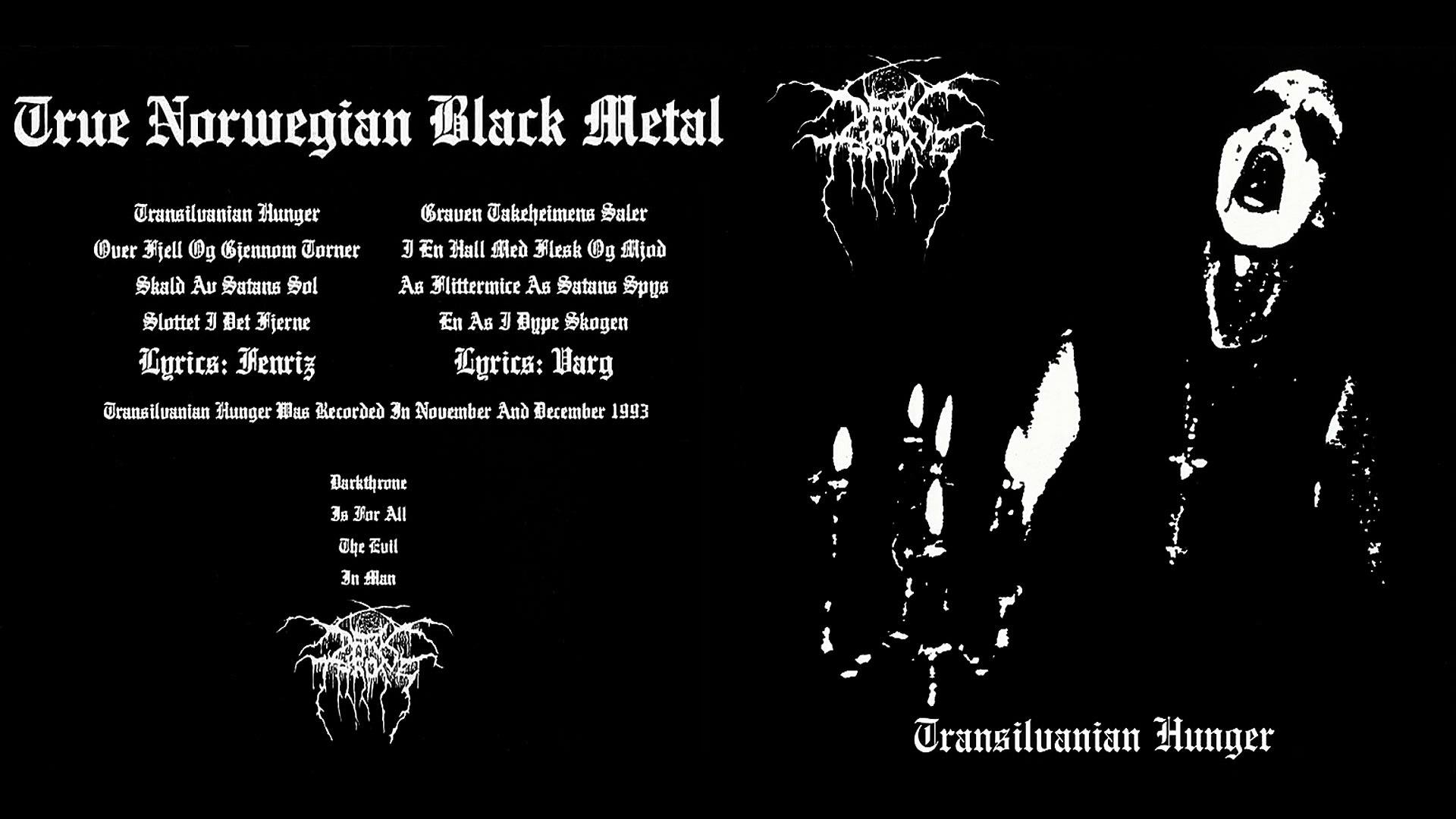 Darkthrone - Transilvanian Hunger (full album)