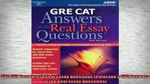 READ book  GRE CAT Answers to Real Essay Questions Petersons GRE Answers to the Real Essay  FREE BOOOK ONLINE