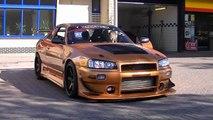 650hp Nissan Skyline R33 GT-R Rev & Show Off