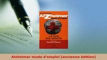 PDF  Alzheimer mode demploi ancienne édition  EBook