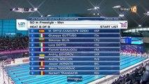 séries 50m NL H - ChE 2016 natation (Bousquet, Manaudou)