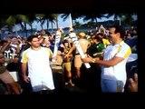 JORNAL NACIONAL - Willian Bonner admite gafe e Tadeu Schimidt carrega tocha olímpica