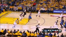 Stephen Curry Hits a deep 3 pointer Game 1 NBA Playoffs Golden State Warriors vs OKC Thunder