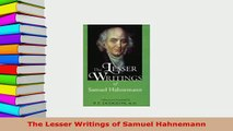 Download  The Lesser Writings of Samuel Hahnemann Ebook Free