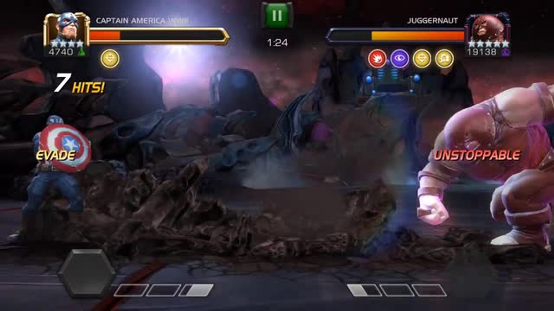 Marvel Contest Champions, a great free-to-play fighter with your own team of Marvel superstars