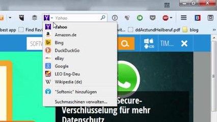 Google suche in Firefox einstellen: Standardsuche ändern