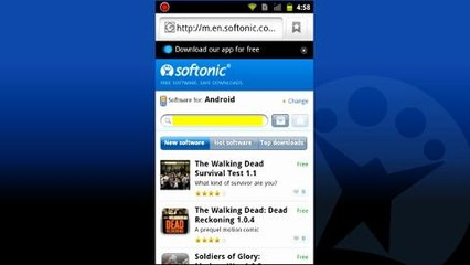 How to install an Android App using mobile's internet