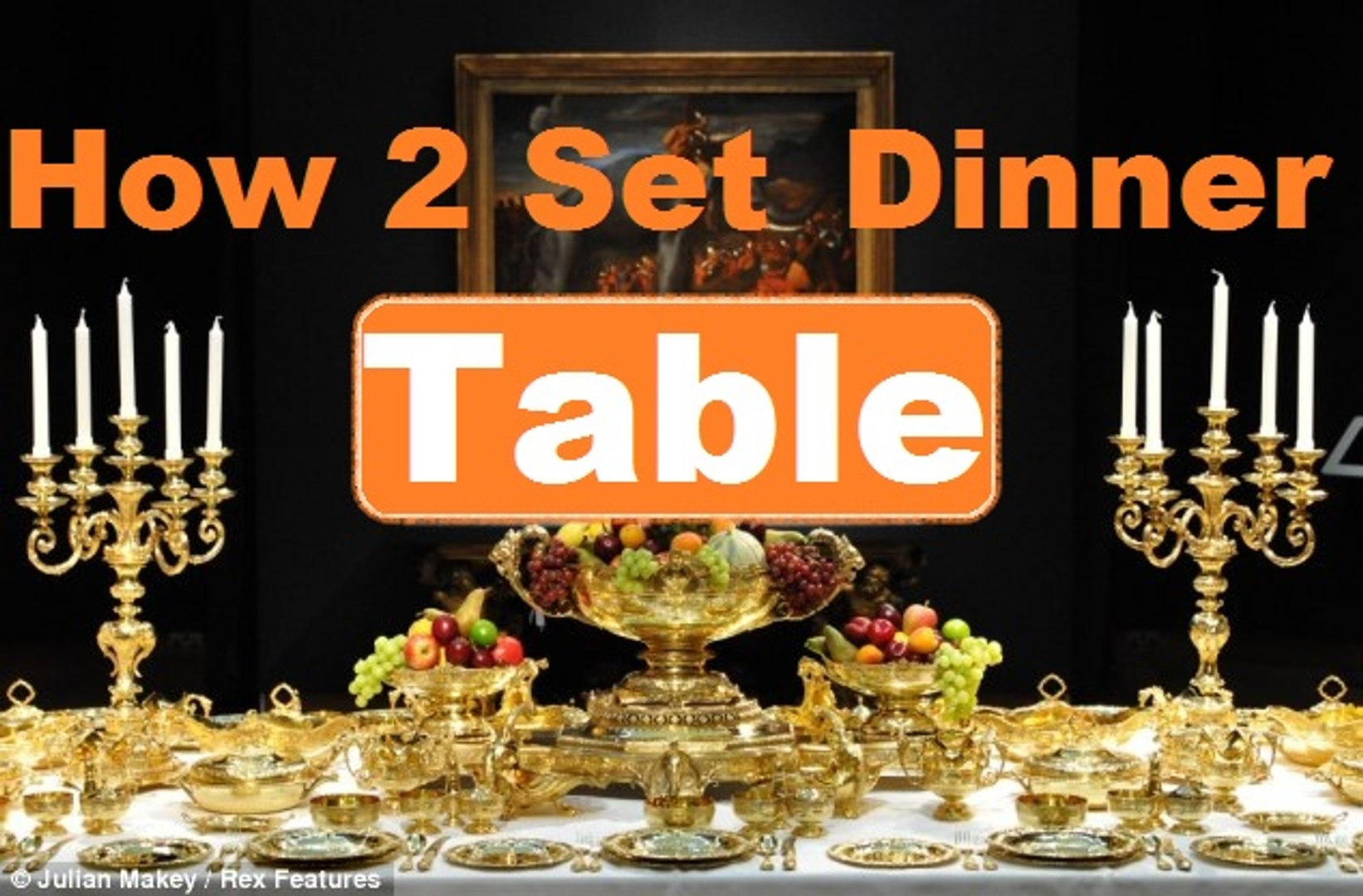 How To Set A Formal Dinner Table 2016