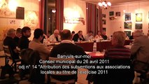 Conseil municipal du 26 avril 2011 - subventions aux associations