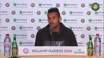 Roland-Garros 2016 - Conférence de presse de Kyrgios / 1T