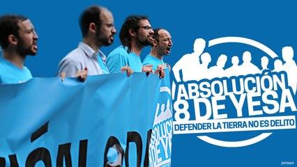 #Absolucion8deYesa Canto a la Libertad en la Manifestación en Zaragoza