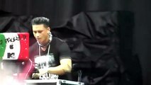 DJ Pauly D playing in the Pouring Rain Mixtape Festival 8-17-12