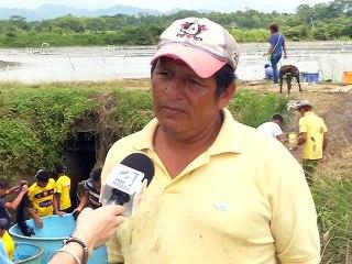 Eremel Huanca, administrador Camaronera Masi Pedernales
