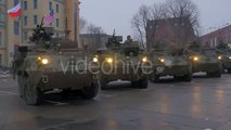 Tanks Are Moving Around by Turn Kids Are Playing Close to Tanks People Are Standing and Looking