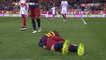 Daniel Carriço Gets Sent Off For A Foul On Messi And Talking Back To Referee!