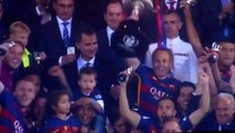 Andres Iniesta Lifts The Spanish Cup After Victory vs Sevilla!