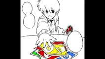 Une partie de cartes UNO filmພ en mode Mangas avec un gros supsens !