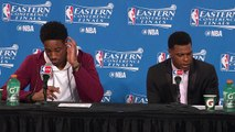 DeMar DeRozan & Kyle Lowry Postgame Interview | Raptors vs Cavaliers | Game 1 | 2016 NBA Playoffs