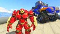 McQueen et Mack Truck Hulkbuster and Blue Grit Disney voitures Chansons enfantines Comptines