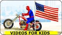SPIDERMAN avec BIKES et CARS Cartoon Pour Comptines Chansons enfantines enfants
