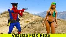 VOITURE DE POLICE ET POLICIER SPIDERMAN Cartoon for Kids Comptines Chansons pour enfants