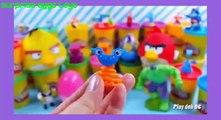 Surprise Eggs Toys Play Doh Kinder Surprise Eggs Disney Frozen Egg Peppa Pig Spongebob Play Dough 0