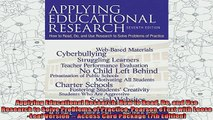 best book  Applying Educational Research How to Read Do and Use Research to Solve Problems of