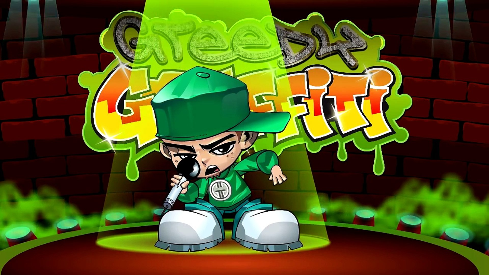 Funny Rap - MUFFIN TOPS - hiphop comedy music video parody by cartoon gangsta rapper Greedy Graffit
