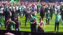 Hibs v Rangers Pitch Invasion