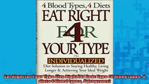 READ book  Eat Right for Your Type Live Right for Your Type 4 blood types 4 diets 4 blood types 4 Full EBook