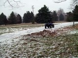 ATV doughnuts on the ice, 660 Yamaha Grizzly (Part 2)