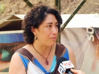 Martha Morales, voluntaria de Khare, en San Vicente