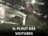 Accident spectaculaire : la voiture s'envole...
