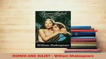 Download  ROMEO AND JULIET  William Shakespeare  Read Online