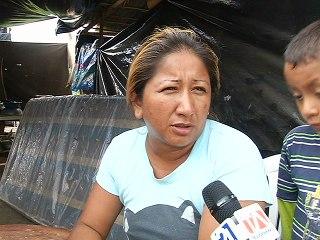 Katty Rosado, moradora de Canoa