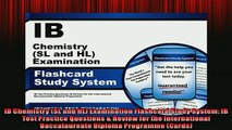 EBOOK ONLINE  IB Chemistry SL and HL Examination Flashcard Study System IB Test Practice Questions   BOOK ONLINE