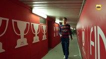 FC Barcelona – Sevilla FC (Copa del Rey Final): Celebrations in the players' tunnel