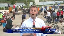 Bellevue, Council Bluffs, Omaha mayors help kick off National Bike to Work week Local News KETV
