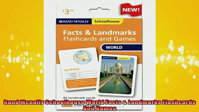 FREE DOWNLOAD  Rand Mcnally Schoolhouse World Facts  Landmarks Flashcards And Games READ ONLINE