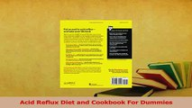 Read  Acid Reflux Diet and Cookbook For Dummies Ebook Free