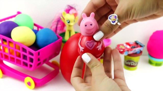 Peppa Pig   Peppa Pig Kinder Surprise Eggs   Play Doh Cars 2 Angry Birds Shopkins Littlest Pet Shop