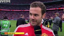 Crystal Palace 1-2 Manchester United - FA Cup Final - Juan Mata Post Match Interview