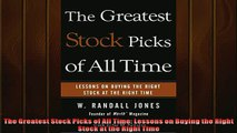 FREE PDF  The Greatest Stock Picks of All Time Lessons on Buying the Right Stock at the Right Time READ ONLINE