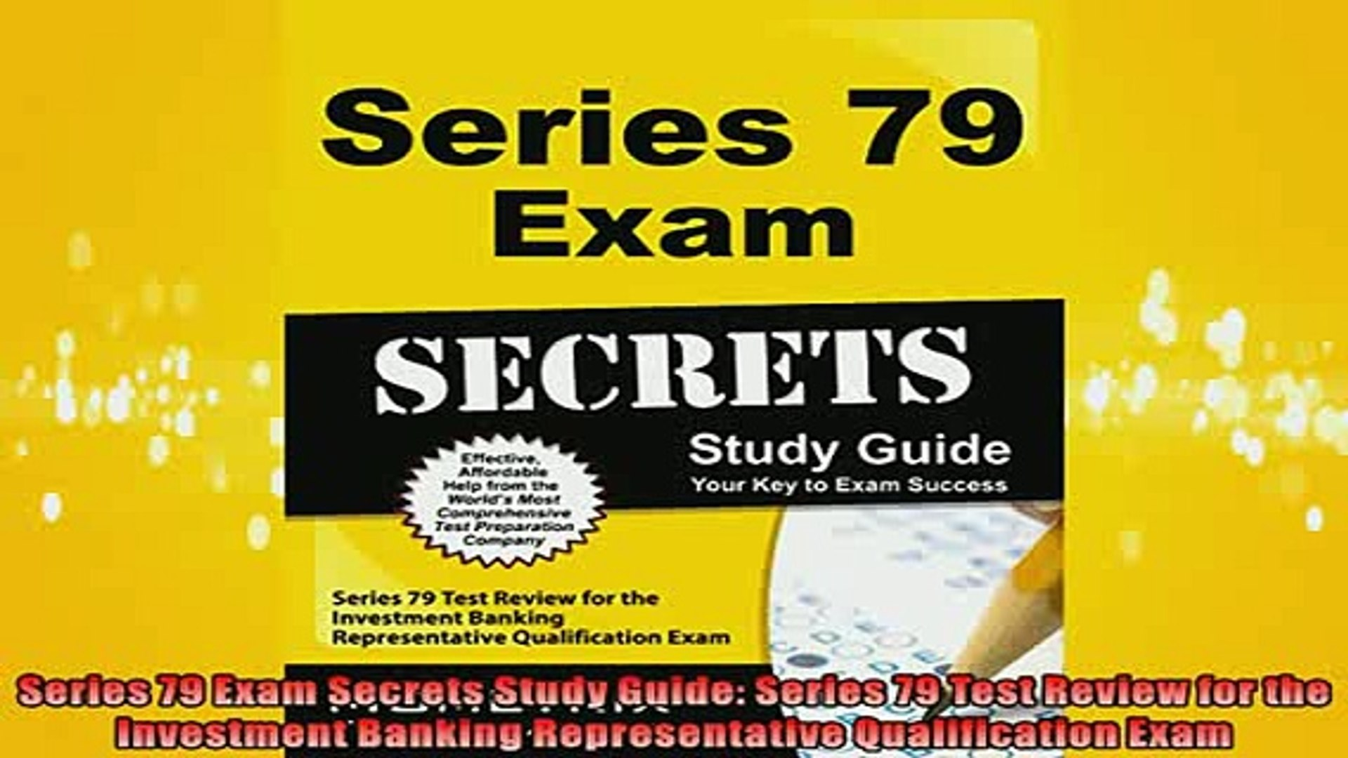 EBOOK ONLINE  Series 79 Exam Secrets Study Guide Series 79 Test Review for the Investment Banking  B