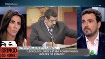 Alberto Garzon le espeta a la antichavista Ana Pastor que Leopoldo López y la oposición a Venezuela, son golpistas, pero se pela con Nicolás Maduro
