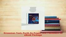 Download  Grossman Text Porth 9e PrepU and Fischbach 9e eBook Package Ebook